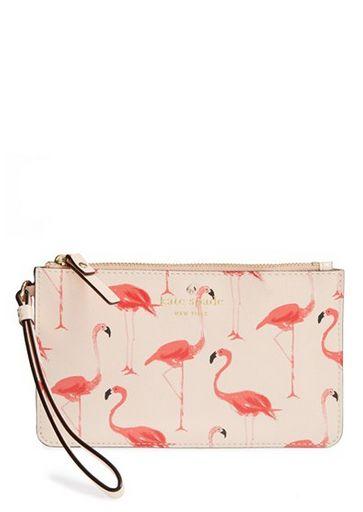 flamingo wristlet