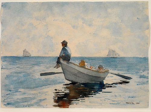 Winslow HomerFavorite Artists, Homer Painting, Homer 1880, Boys In Boats Painting, Homer Winslow, 1873 Winslow, Homer American, Winslow Homer, Homer Watercolors