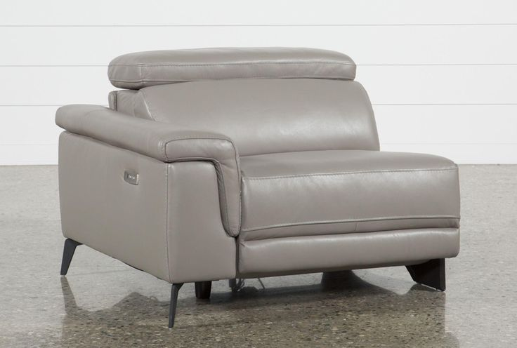Thatcher Grey Left Facing Power Recliner - Signature 43 X 42