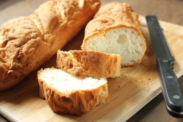 """Gluten Free French Bread: """"This french bread is amazing! It tastes so similar to normal french bread. Plus it freezes wonderfully. It's crusty on the outside, and soft and tender within. It is fabulous alone, or made as bruschetta."""" -GlutenFreeGirl"""