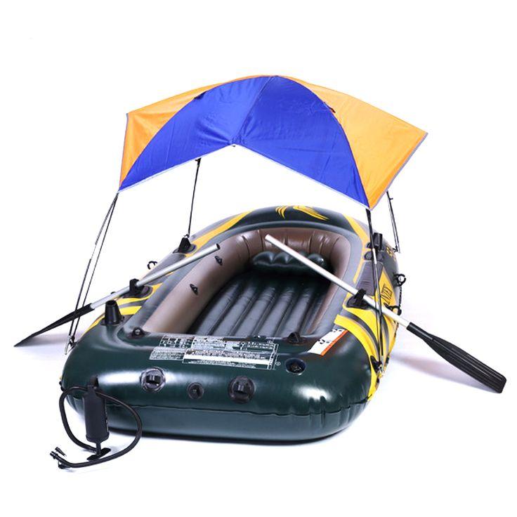 Вс Укрытие Палатка 2-4 Человек Палатки Раза Для Надувной Лодки Рыбалка Палатки Многофункциональный ПВХ Резиновые Козырек от солнца Зонт палатка