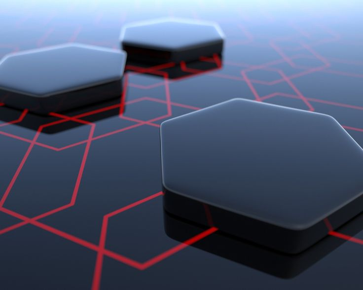 Obsidian Hexagons wallpaper | 3D Hexagons wallpapers