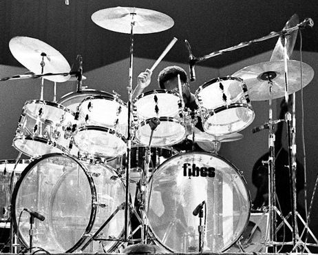 Fibes Drums - Billy Cobham. The Crystalite Double Forte set up.