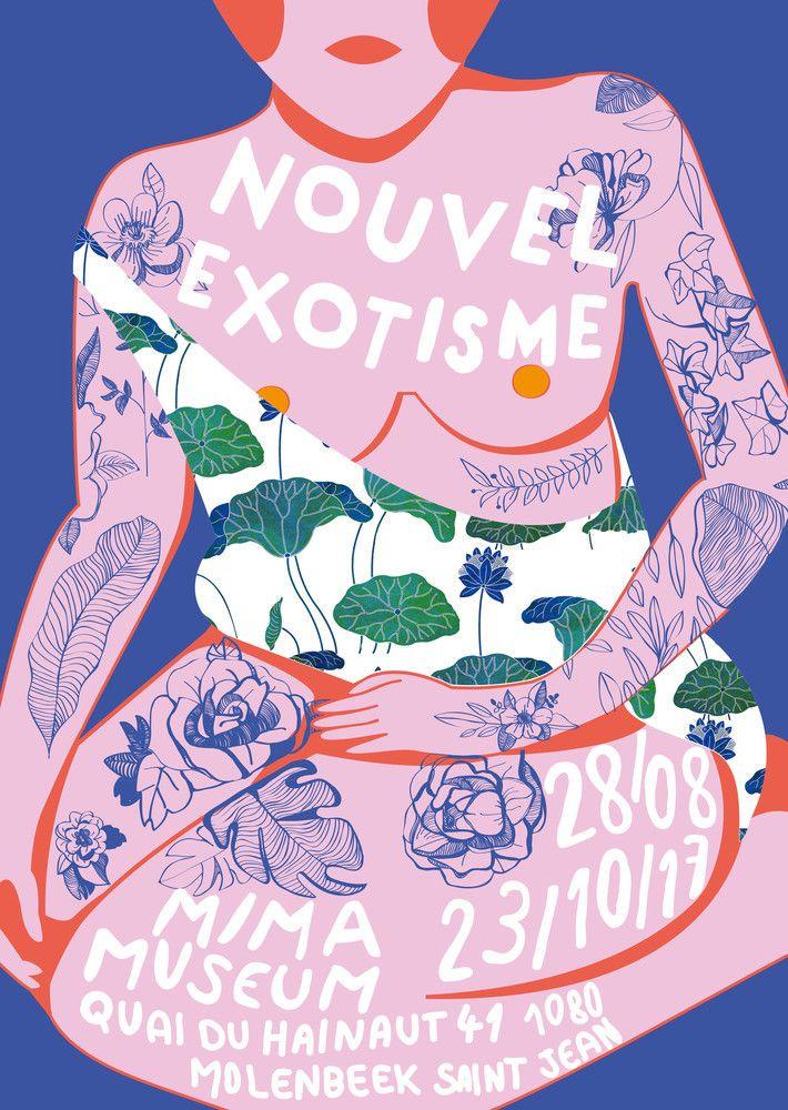 """Vous avez été plus de 400 candidats à publier votre affiche sur le site du concours """"Nouvel Exotisme"""". Graphisme, illustration, collage, photographie,..."""