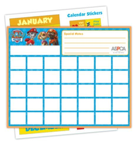 Stay organized with the help of this Paw Patrol themed calendar.