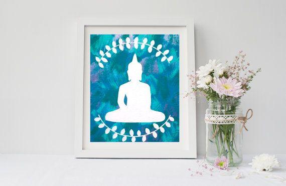 Bohemian Hippie buddha art print poster for by NorthStarrPrints