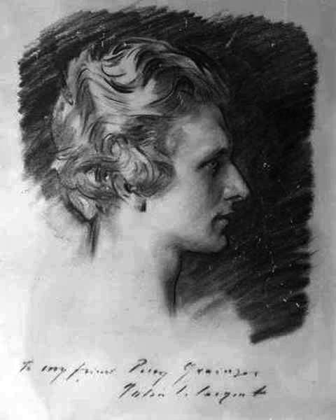 John Singer Sargent 1856-1925.  PercyGrainger.