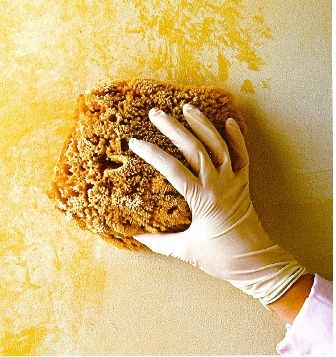 faux painting with sponge-Sponging uses various textures and sizes of ...