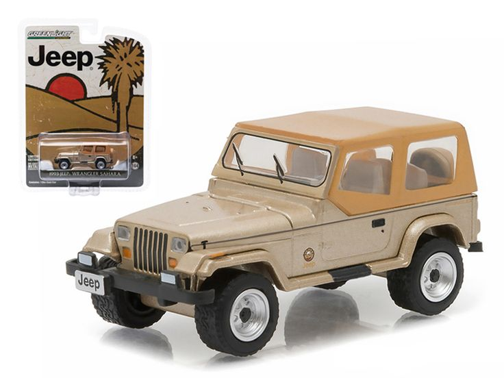 "1993 Jeep Wrangler Sahara ""Hobby Exclusive"""" 1/64 Diecast Model Car by Greenlight"""