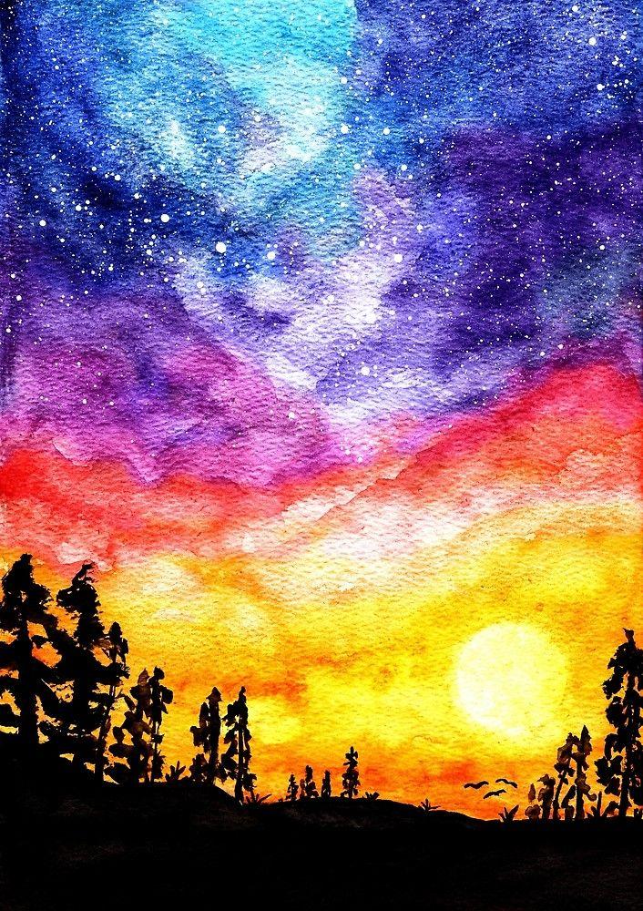Brooklyn S Room Sunrise Painting Sunset Painting Sunrise Art