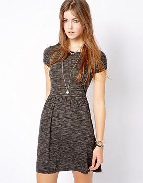 Image 1 ofNew Look Slub T-Shirt Dress