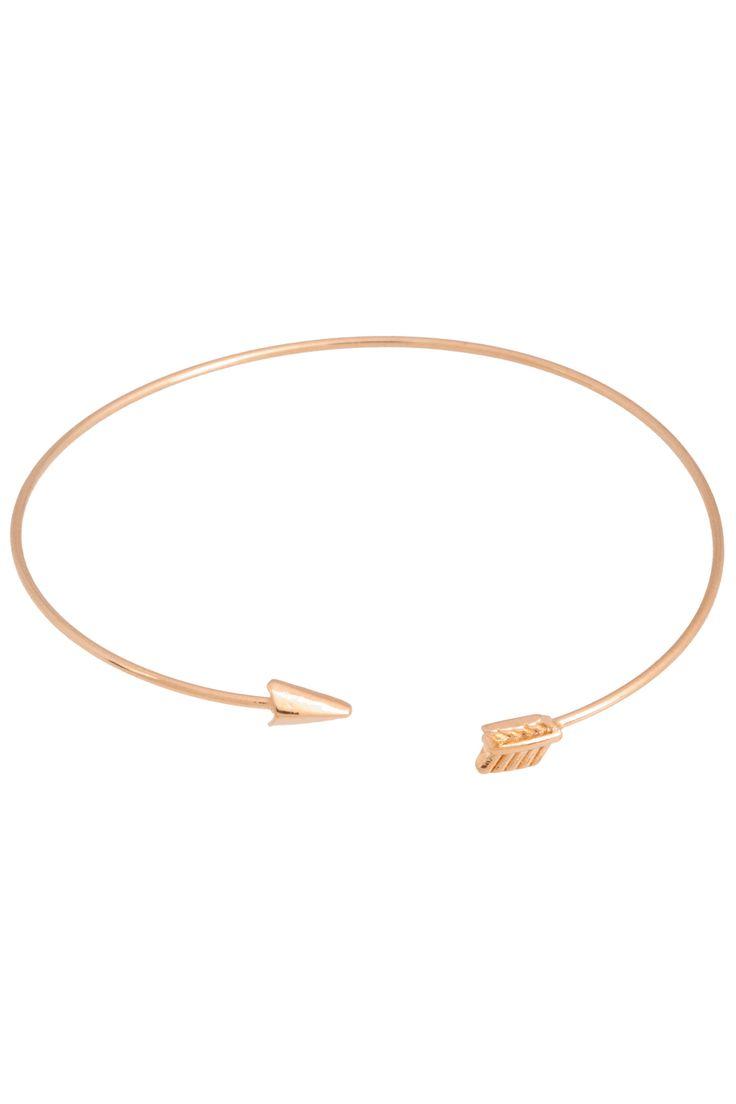 rose gold arrow bangle
