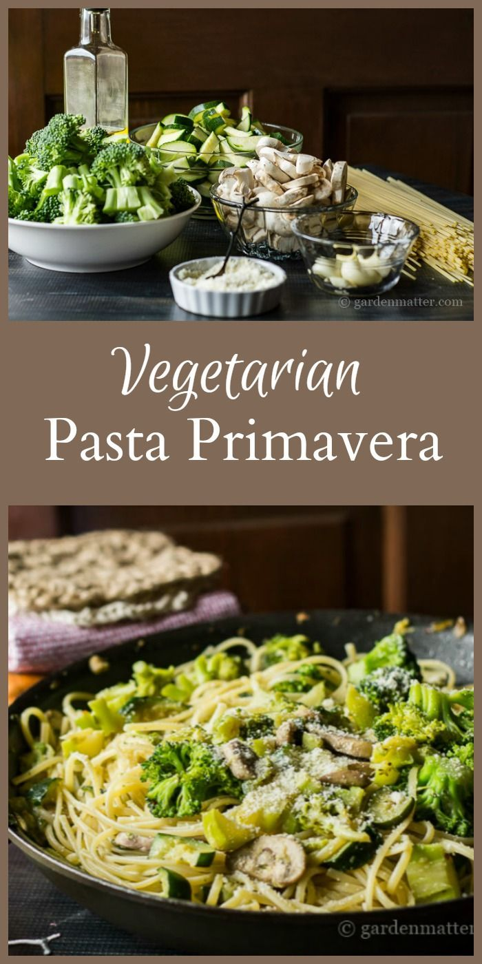This recipe for vegetarian pasta primavera is easy, and can be adapted to suit your preferences. A great meatless option for dinner with plenty of flavor.