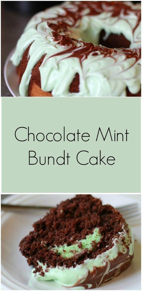 Chocolate Mint Bundt Cake Plain Vanilla Mom