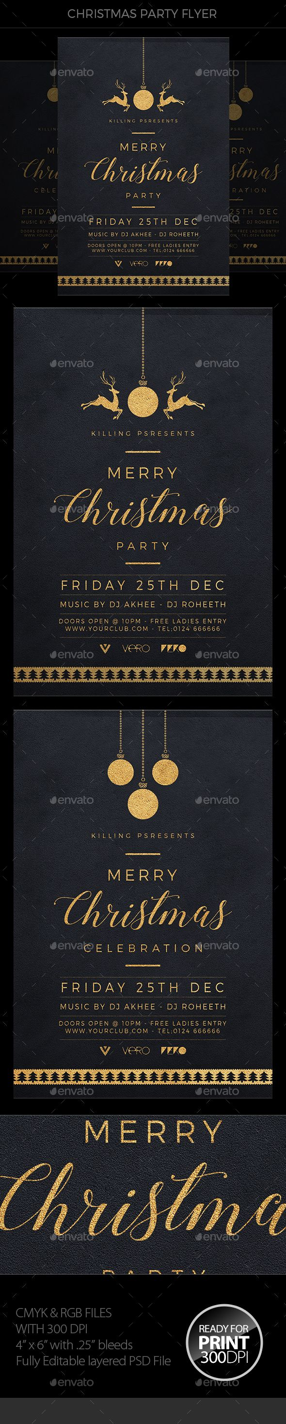 Christmas #Flyer - Clubs & Parties Events Download here: https://graphicriver.net/item/christmas-flyer/18731789?ref=alena994