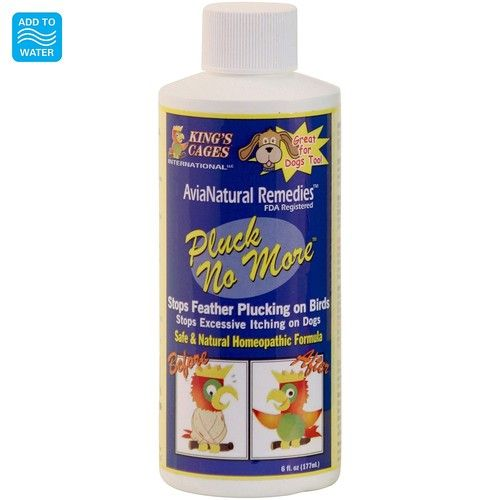 Pluck No More - Natural Homeopathic Remedy -177ml  A Revolutionary New Product For Birds Who Feather Pluck