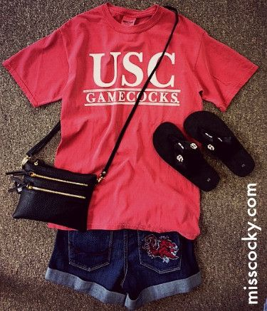 University of South Carolina Garnet Comfort Colors Tee