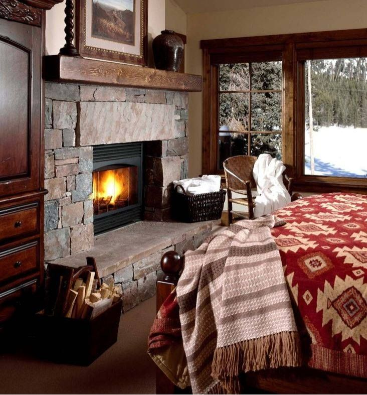 Stone Fireplace In Bedroom Like The Large Natural Stone