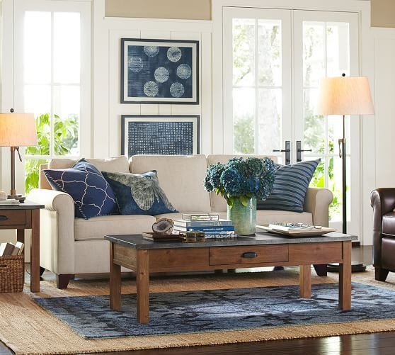 Amazing Pottery Barn Living Room Paint Colors Navy Accent