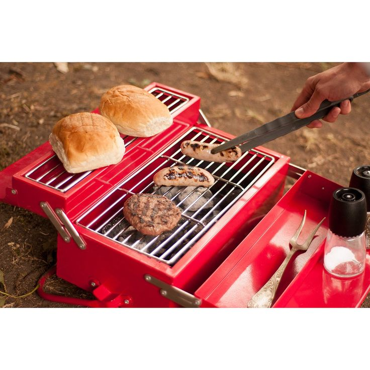 SUCK UK |  Barbeque Toolbox  - Red #botanex #botanexstore #qualityproducts #outdoors #camping #glamping #outdoorcooking #wantone