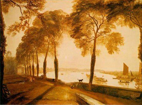 Paintings Turner | Mortlake Terrace painting,by Joseph Mallord William Turner