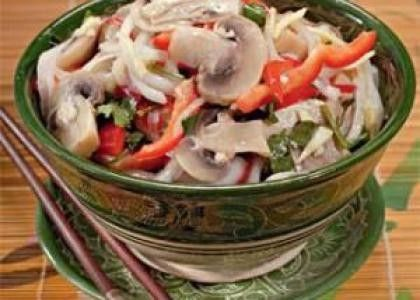 Салат с шампиньонами по-корейски