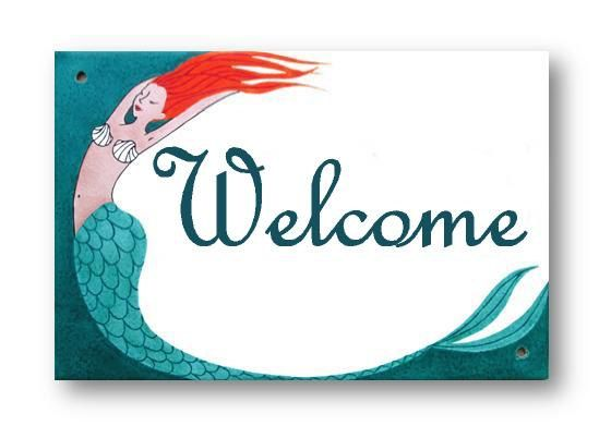 Welcome Sign Nautical Sign Beach House sign by AyeBarDesigns