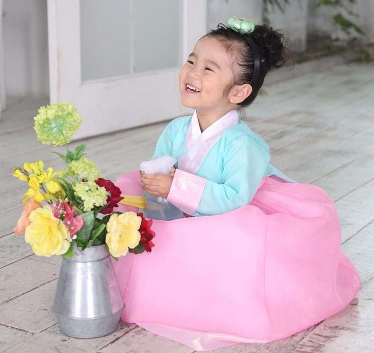Hanbok Girl 7023 Korean traditional Dress Korea Baby 1st birthday Party Kids #Fairycloset