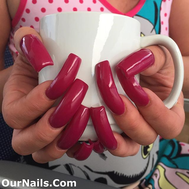 Morning coffee with my nails! I had them done on Tuesday! . Please visit www.OurNails.com to see more pictures of me and my nails! . #nails #longnails #nailswag #naillife #notd #nailsoftheday #prettynails #frenchmanicure #feet #nailfetish #claws #longtoenails #sexynails #nailselfie #nailstagram #nailsofinstagram #nails2inspire #nailart #nailsdone #nailslove #ilovenails #longnailsdontcare #like4like #footfetish #frenchnails #nails_page #kylienails #kylie #toenails #tammytaylornails