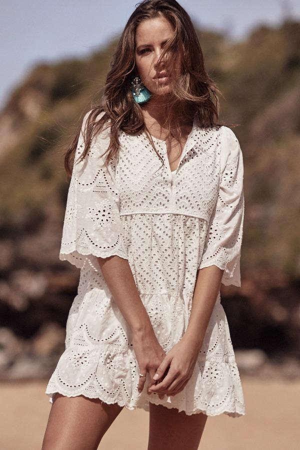 Jaase - Sami Mini Dress - Anglaise