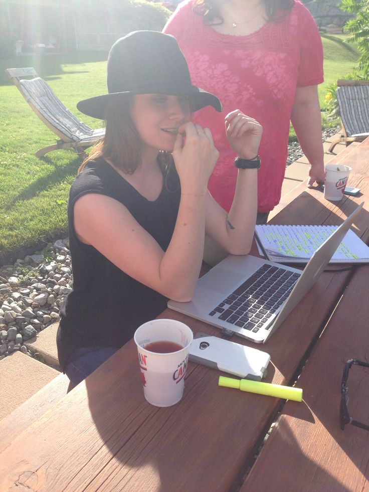 Our hard working Community Manager, Catarina Haber, at the RTOWN Retreat.