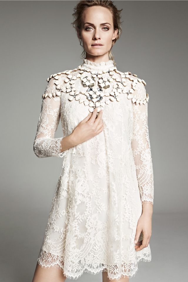 Lace dress in an organic cotton blend. #HMConsciousExclusive #SustainableFashion #AmberValletta