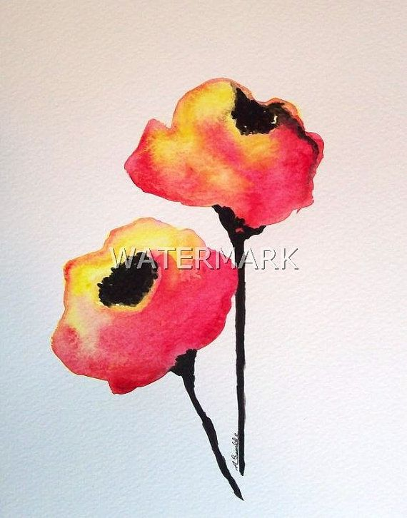 Abstract roses , original watercolour (not print) on 240g paper approx: 7.7 x 6inch / 19.5 x 15cm. FREE SHIPPING $22.00 USD