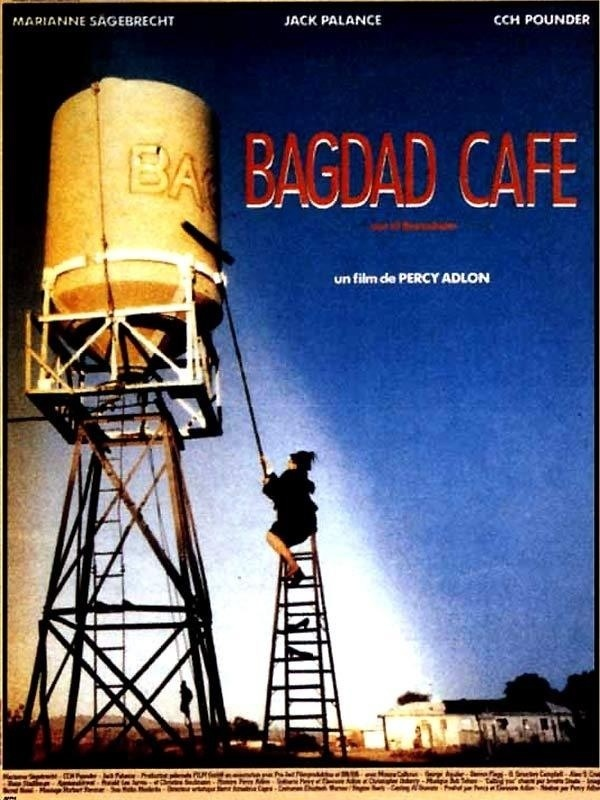 Bagdad Cafe (1987) - Director:Percy Adlon Stars:Marianne Sägebrecht. As a young adult it has thought me the courage to search for new beginnings.. It has given me a sense of adventure. The soundtrack it was been listened to a million times.