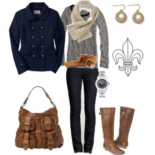 Fall Clothing, Winter, Jackets, Fall Outfits, Fall Fashion, Brown Boots, Stripes, Fall Styles, Bags