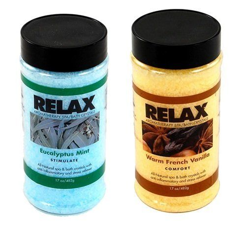 Eucalyptus Mint & Warm French Vanilla -17 Oz- Hot Tub Aroma Therapy Fragrance Crystals - All Natural Minerals, Salts for Spa, Whirlpool by Relax Spa & Bath. $21.95. Save 15% Off!