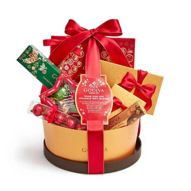 Godiva Chocolatier Home For The Holidays Gift Basket, Multicolor