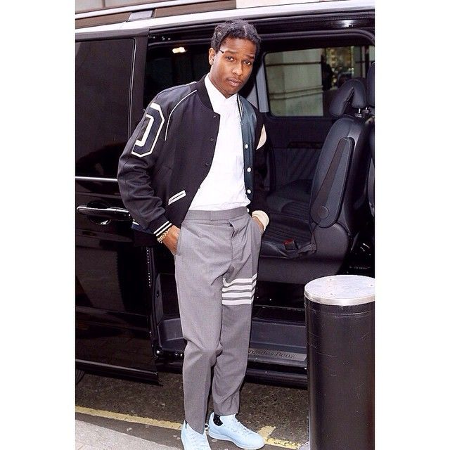 211701389b6c Asap rocky in Thom Browne Thelibertyexperiment.co.uk  menswear  dapper   streetstyle  fashion  gq  rickowens  ysl  saintla…