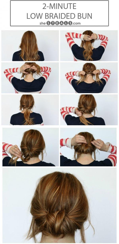 21 Einfache Superstyle Fur Schichten Summer Hair Buns Hair Styles Hair Bun Tutorial