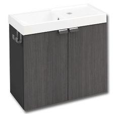 Cosmic b box mueble 2 puertas color antracita frontal - Lavabos de pizarra ...