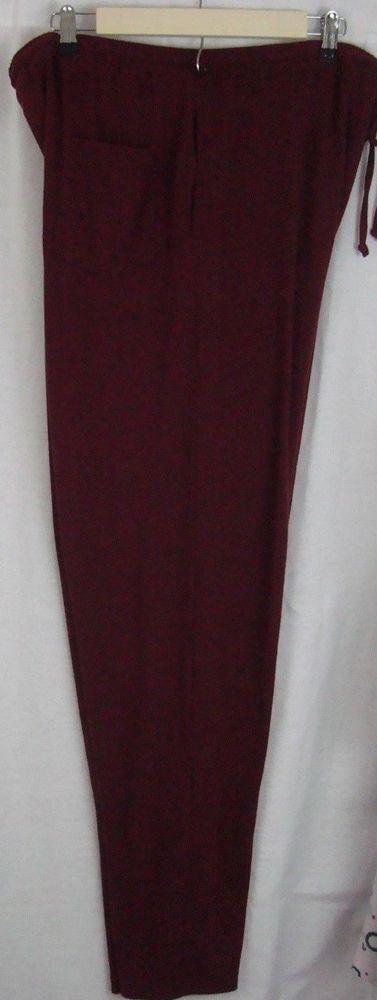 Haband Men's Sweat Pants Big and Tall Size 2XT Cranberry Cotton/Polyester #Haband #SweatPants