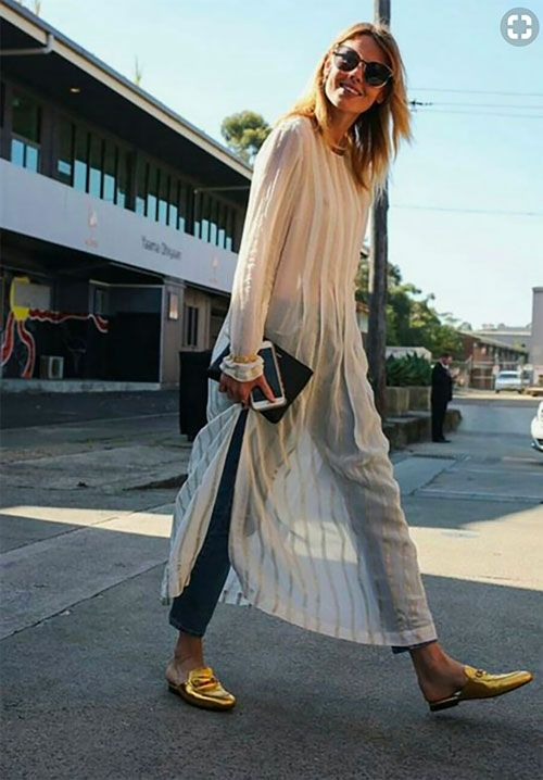 This dress is rather cool over jeans. LE CATCH