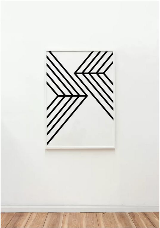Black and white geometric artwork from The Artwork Stylist l Salt & Pepper on Salt