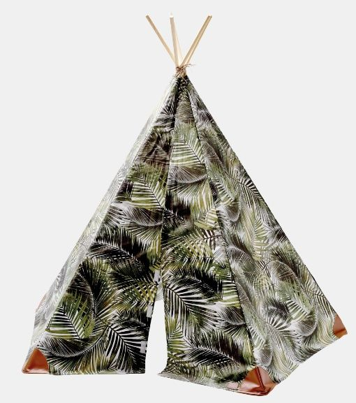 Outdoor palm leaf print Teflon coated - Cover a tippi with a nature fabric