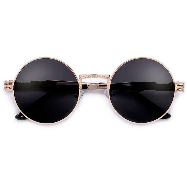 53mm Round Artistry Crafted Thick Temple Boho Sunnies ❤ liked on Polyvore featuring accessories, eyewear, sunglasses, glasses, wayfarer style sunglasses, cat eye sunglasses, round wayfarer sunglasses, aviator style sunglasses and wayfarer sunglasses