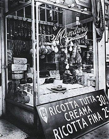 Cheese Store, 1937, by Berenice Abbott