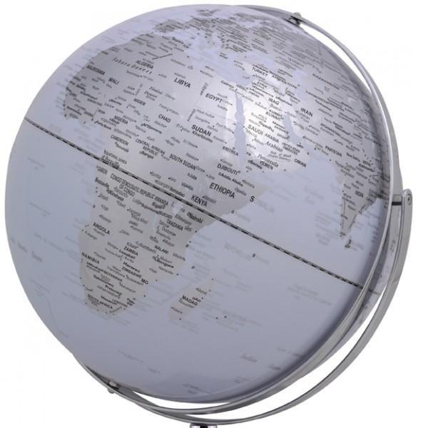 Mappamondo da arredo Mappamondo con piedistallo in alluminio WORLDTROPHY - bianco - Impocoweb - Impoco Group: negozio di cartoleria online fornitura di articoli ufficio e scuola, articoli da regalo e pelletteria.