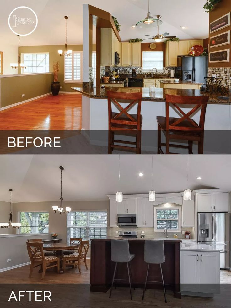 bill carols kitchen before after pictures home remodeling - Before And After Home Remodel