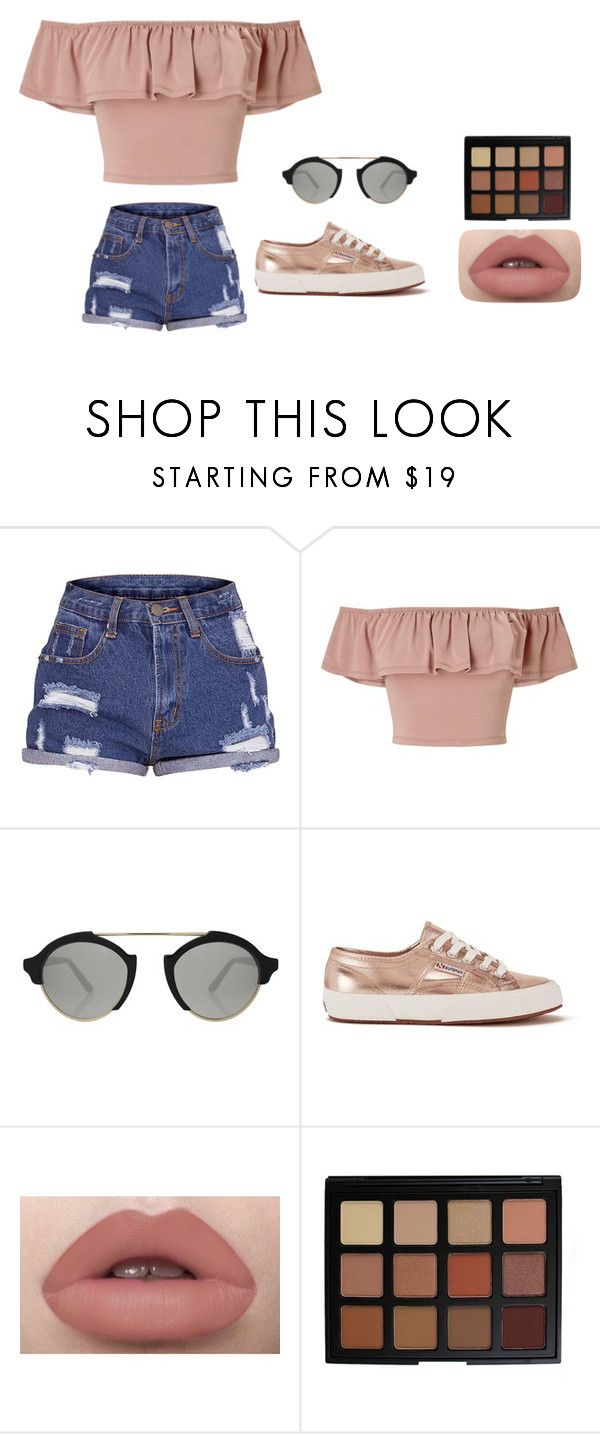 """Last day of spring break:("" by annaewakefield ❤ liked on Polyvore featuring Miss Selfridge, Illesteva, Superga and Morphe"