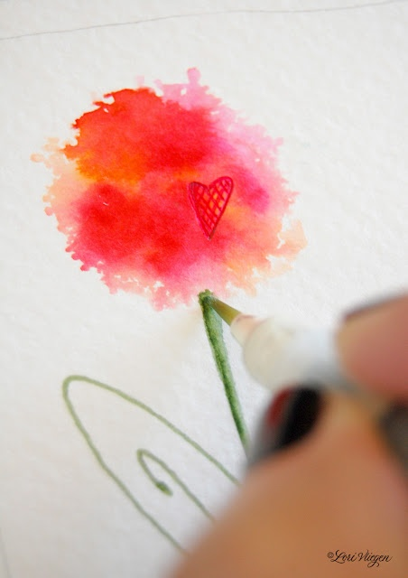 little watercolor bliss.....  without the watercolor!